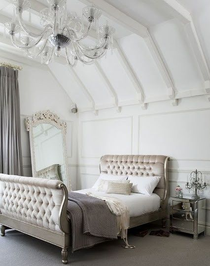 White & Silver Bedroom.
