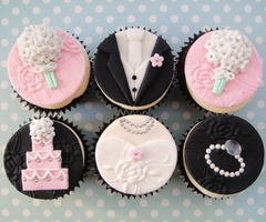 En nypa socker -: Cupcake Rosa-Choqu, Weddings, Cute Ideas, Wedding Cupcakes, Bridal Shower Cupcake Dresses, Bride And Grooms Cupcake, Bridal Shower Cupcakes, Red Velvet Cupcake, Cups Cakes