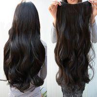 Yeni toptan kadın korea büyük dalga uzun kıvırcık saç uzatma sentetik peruk saç örgüleri #l04023