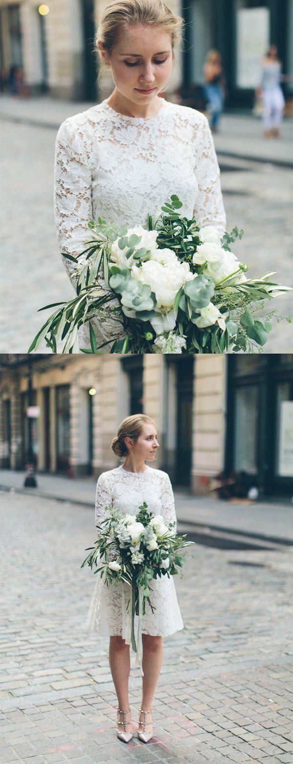 White Lace Long Sleeve Sheath Vintage Short Wedding Dresses Db0182 Wedding Dresses Wedding Dresses Vintage Short Wedding Dress [ 1560 x 600 Pixel ]