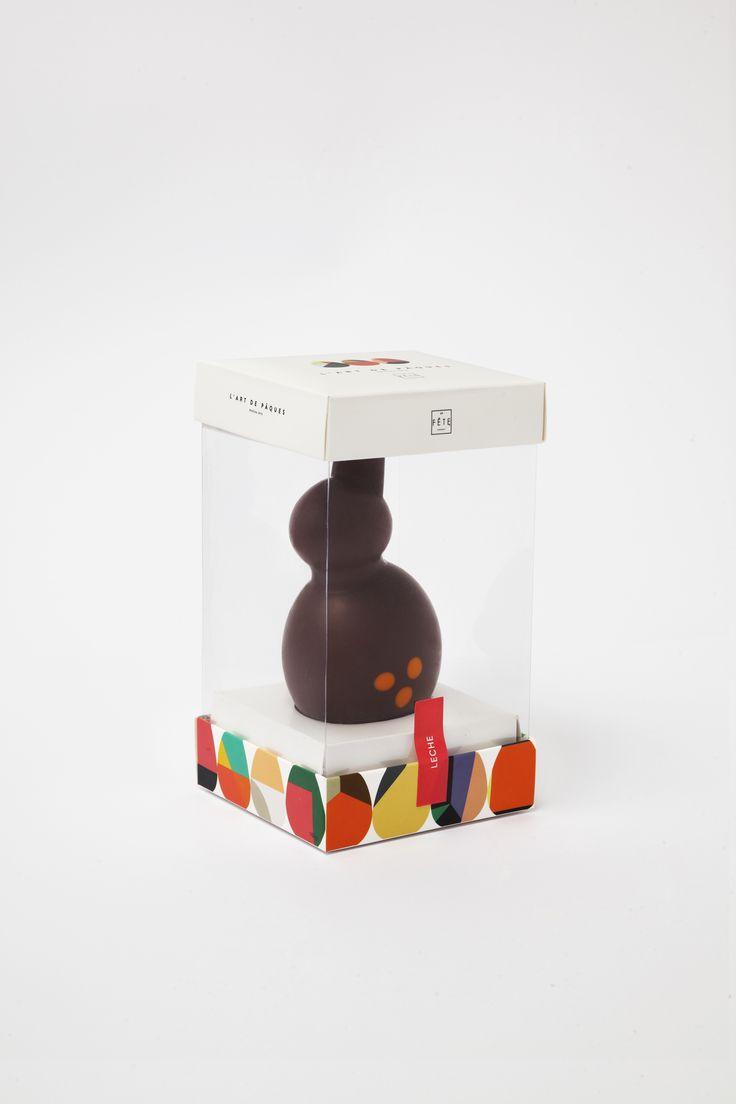 Our beautiful milk chocolate rabbit. #lafetechocolat