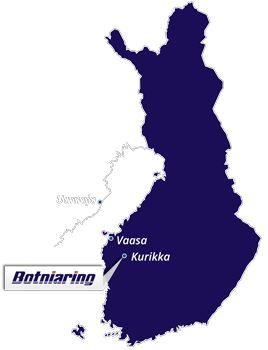 Botniaring moottorirata, sijainti Suomen kartalla. Botniaring on Suomen pisin ja nopeavauhtisin moottorirata. Rata-aluetta on mahdollista vuokrata moottoriurheilu- ja muihin yleisötapahtumiin ja alueella järjestetään vuosittain useita eri tapahtumia. Radalla on viikottain yleisiä harjoittelupäiviä, jolloin voi tulla vapaasti harjoittelemaan vaikka omalla autolla tai moottoripyörällä nopeaa ajoa turvallisessa ympäristössä.  #Kurikka #Jurva