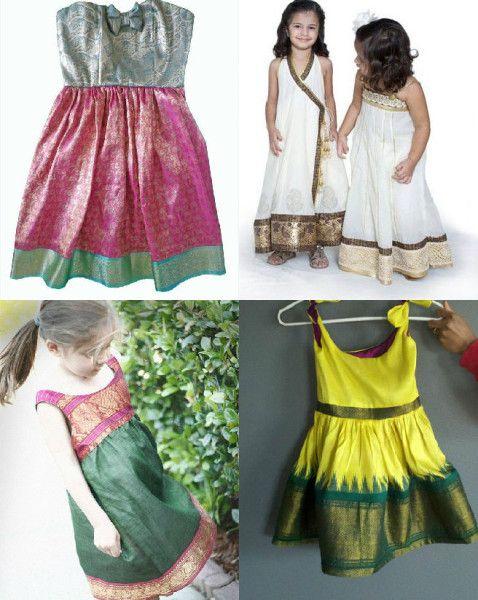 reuse_sarees_as_kids_dresses