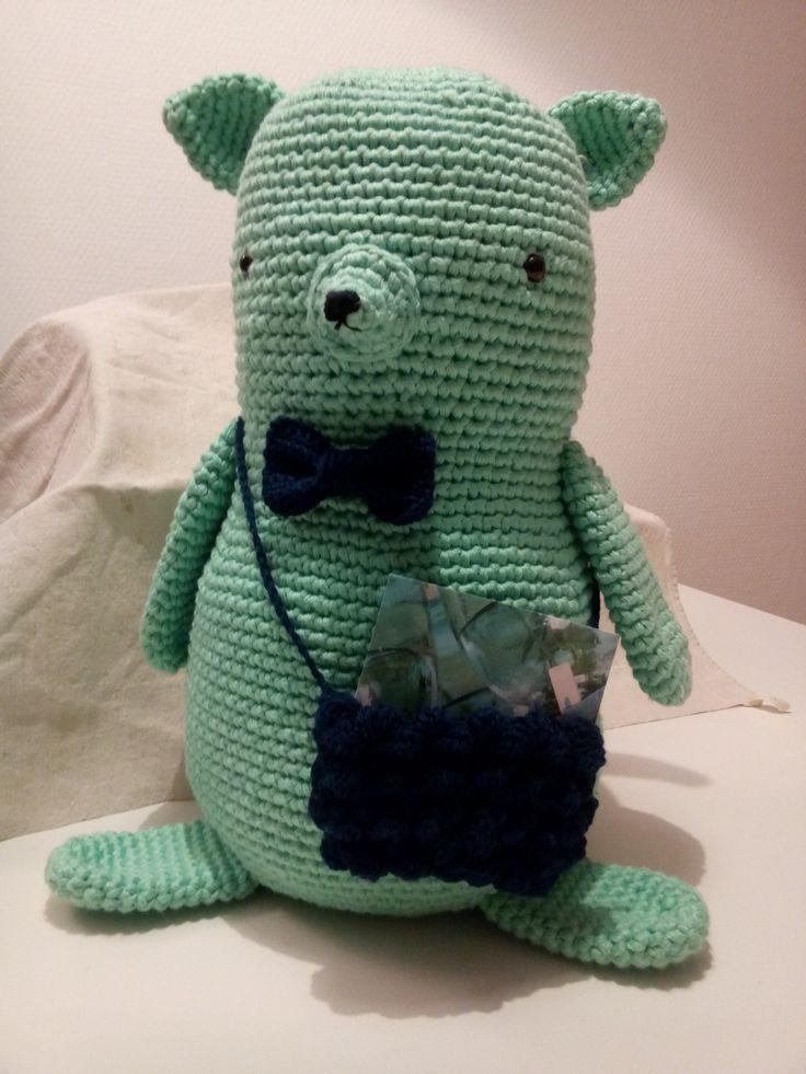 Gédéon, d'après un patron de Tournicote... à cloche pied, Tendre Crochet 2. Fil Natura Just Cotton XL et Phil Coton 3.
