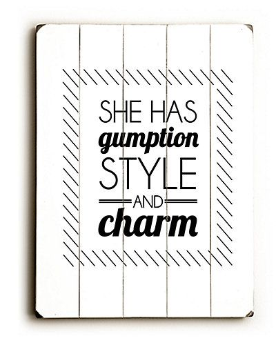 "Some of you have to get in on this: ""She Has Gumption"" by Amanda Catherine"