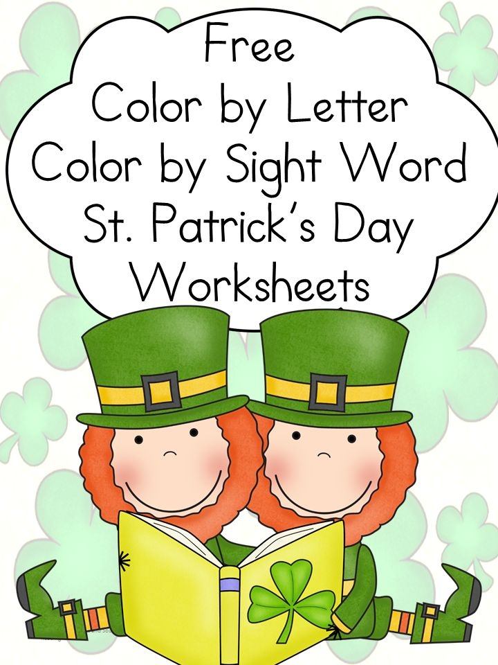 more st patricks day fun kindergarten colorsworksheets - Free Color Word Worksheets