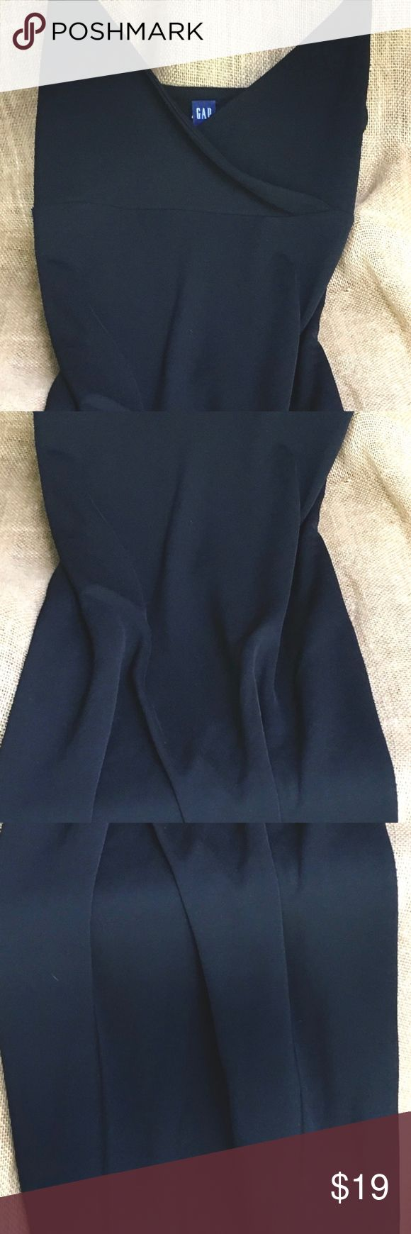 Classic black flr length stretch maxi dress GAP M Stunning, Classic & Simple black floor length stretch GAP Spaghetti Strap Tank Maxi Dress Sz M  This dress may be dressed up for a cocktail occasion or just worn as a casual, easy-on day dress. The material combination of 58% Rayon / 40% Polyester / 2% Spandex makes for an extremely slimming, figure flattering, slinky dress that completely eliminates any & all bulges. For real!  If you don't agree - no problem. Just send 'er on back for a…