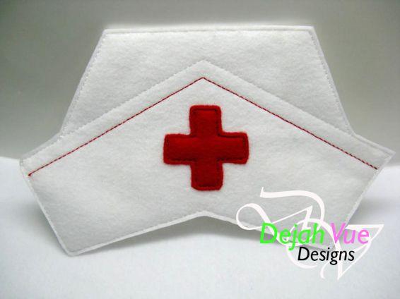Pretend nurse hat pattern