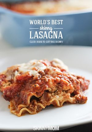This seriously IS the WORLD's BEST skinny lasagna!