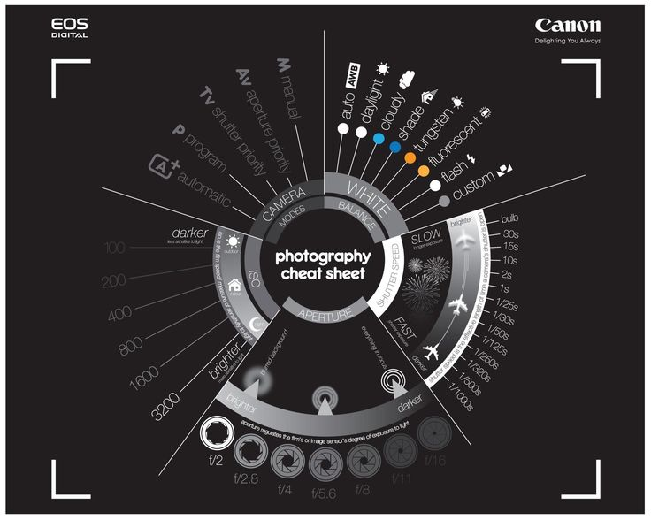 Canon Photography Cheat Sheet