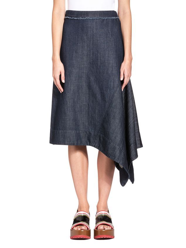 Marni linen denim blend skirt