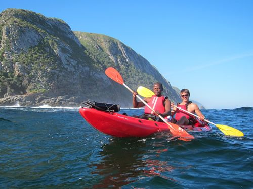 Kayaking off Tsitsikamma National Park in the Eastern Cape of South Africa