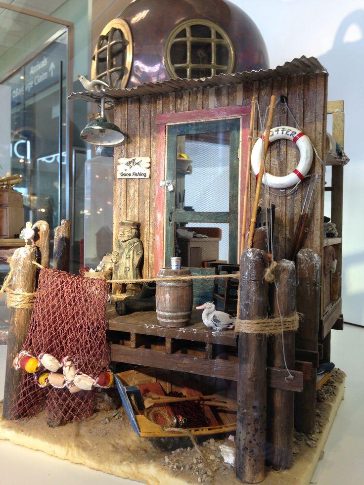 """Fishing Shack"" Jeannie J. | Annual Miniature Show & Sale | February 7 & 8, 2015 | Exhibits, Sales & Classes"