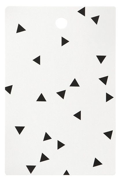Scattered Triangle Print - graphic monochromatic pattern // Fern Living