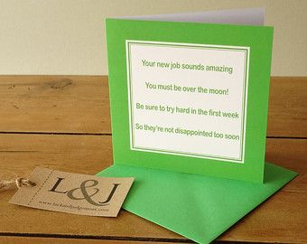 Funny new job card - leaving card - promotion naughty card - congrats new job - new job gift - card for new job - congrats on new job by LuckJudgementGifts. Explore more products on http://LuckJudgementGifts.etsy.com