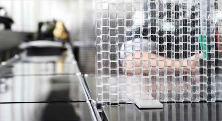Rosso CP30 acoustic transparent desk screen. Gennemsigtig akustisk bordskærm