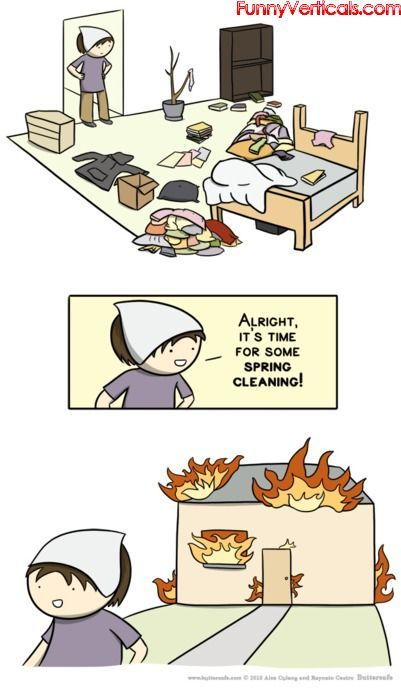 funny cartoons about house cleaning Maxine Spring