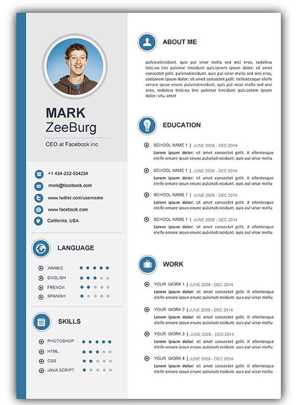 4 Free Download Resume Cv Templates For Microsoft Word Cv Kreatif Desain Cv Desain