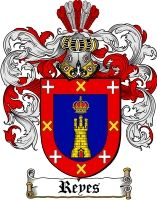 $8.99 Reyes Family Crest / Reyes Coat of Arms - Download Family Crests