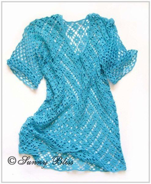 Crochet patterns: Free Crochet Pattern for Spectacular Tunic or Shift Dress