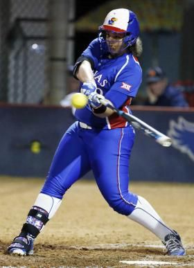 Daniella Chavez set a new single-season record for Kansas this season.  KU ATHLETICS