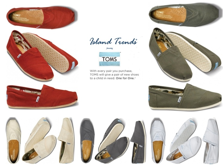 TOMS for Men. Choose your favorite color at Island Trends: http://www.islandtrends.com/toms-mens-shoes-1927 #TOMS #islandtrends #shoes