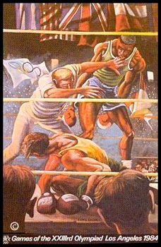 OLYMPIC BOXING 1984 Los Angeles Olympics Poster by Ernie Barnes (LE /300) - available at www.sportsposterwarehouse.com