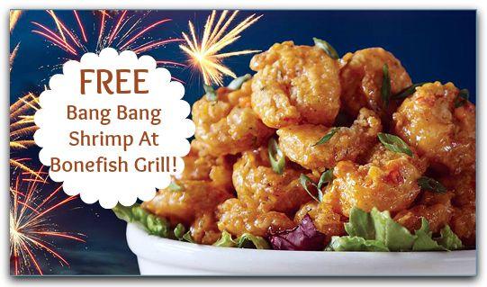 Bonefish Grill Coupon | FREE Bang Bang Shrimp!