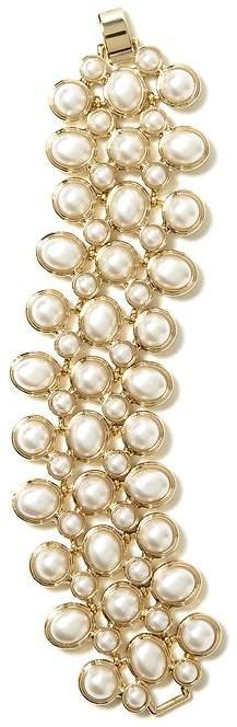 So versatile!  Pearl line bracelet with jeans & blouse or with a sheath dress!