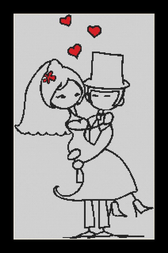 In Your Arms wedding Cross Stitch Download pdf chart on Etsy, $7.05