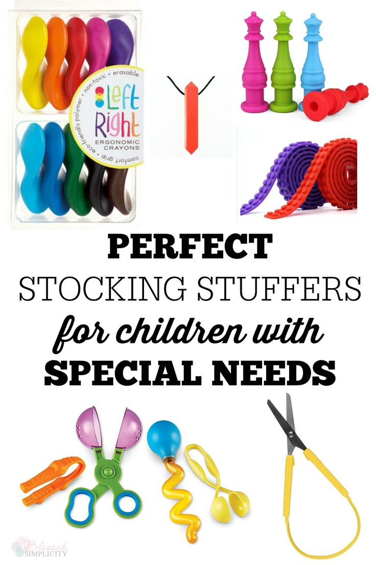 Perfect gifts and stocking stuffers for special needs children. Parents will love giving these gifts and receiving them for their kids with special needs and learning disabilities, especially ADHD and Autism.