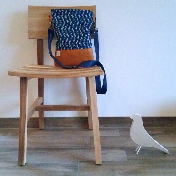 """Umhängetaschen - Umhängetasche """"Anker blau"""" - Für jeden Tag. - ein Designerstück von ich_sein bei DaWanda"""