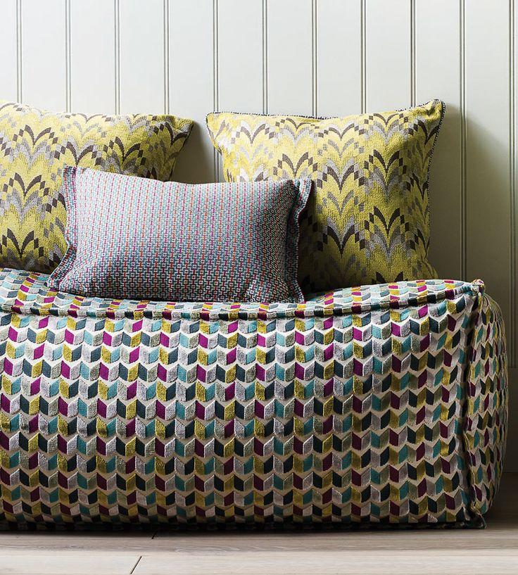 Contemporary Geometrics | Ella Fabric by Osborne & Little | Jane Clayton