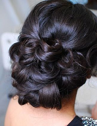 Curl your hair and interlock the pieces into an updo and you've got yourself easy, elegant wedding hair.  How to Make Your Hair Look Like a Celebritys On The Red Carpet