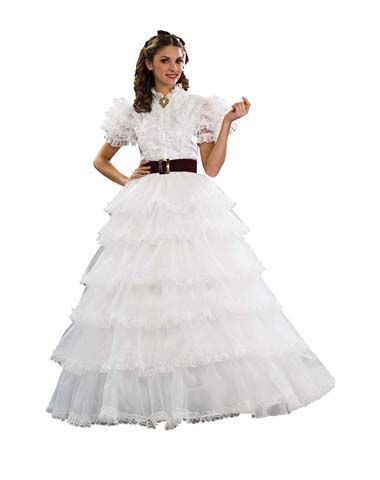 Scarlett ohara white dress costume 90s kids