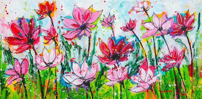 zeg het met bloemen www.vrolijkschilderij.nl