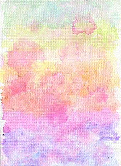 Rainbow Watercolour Gradient Art Print
