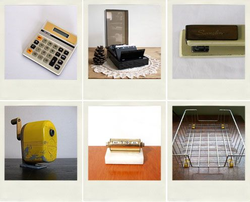 Vinta9e: Office Supplies · Vintage OfficeDesk AccessoriesOffice ...