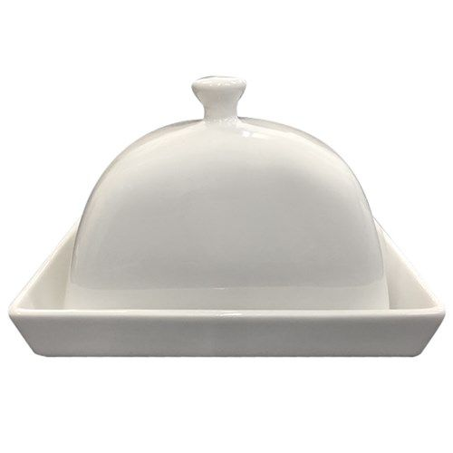 Alex Liddy Modern White Butter Dish | Serving & Salad Bowls - House