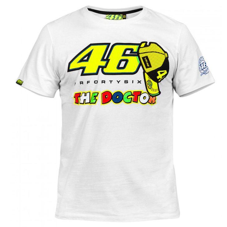 2016 Valentino Rossi VR46 T-shirt 46 Doktor Moto GP Monza Pamuk T Gömlek beyaz