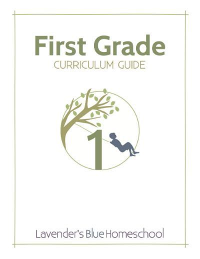 Lavender's Blue First Grade Curriculum, sample and overview here: lavendersbluehome...