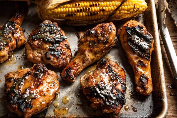 Maple-Mustard BBQ Chicken:  The classic pairing of maple and mustard works well as a sweet and tangy sauce for coating chicken on the grill.