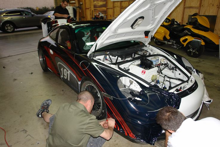 Working on a Porsche! Installed by DesertWraps.com located in Palm Desert, CA. 760-935-3600. Servicing Palm Springs, Cathedral City, Rancho Mirage, Palm Desert, La Quinta, Indian Wells, Indio, Coachella Valley. #Porsche