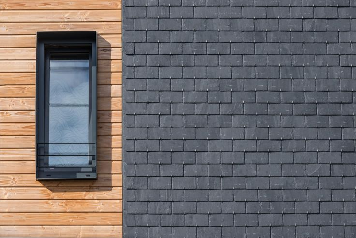 Wood and natural slate cladding: what a great idea for a natural look! | #architecture #clad #natural #inspiration #combination #façade