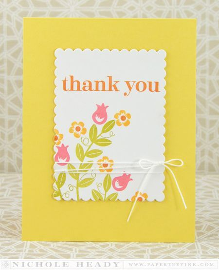Thank You Card by Nichole Heady for Papertrey Ink (March 2014)
