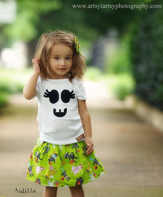 Girl Halloween Shirt Applique Tee Girly Ghost Baby by Aidille ... 4d76a6a35