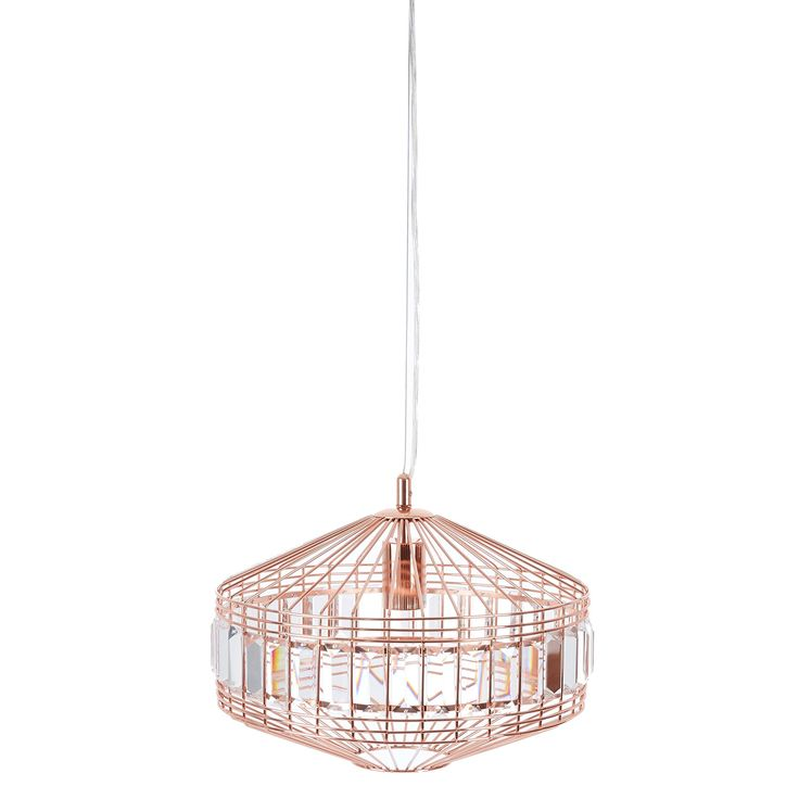 Copper Caged Ceiling Light - TK Maxx
