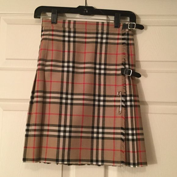 "Authentic Burberry skirt Amazing authentic Burberry skirt!! Pleated kilt design. Measures 19"" long. Only worn a few times and like new. Price firm please. Burberry Skirts"