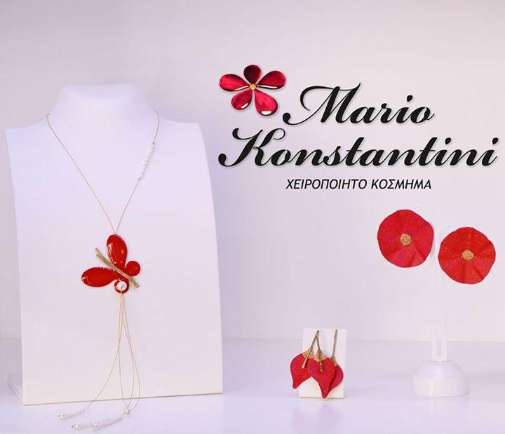 #red #kokkino #necklace #skoularikia #kolie #earrings