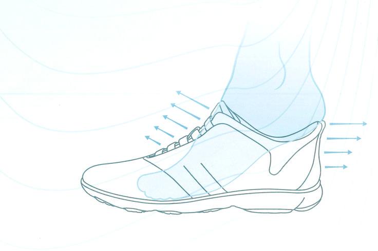 Ein leichter Einstieg dank der der Gummizug-Technologie von Geox sorgt für Komfort und spart Zeit beim Anziehen.